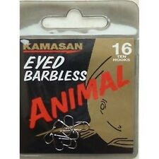 Kamasan EYED BARBLESS ANIMAL HOOKS. (10 PER PKT) ALL SIZES. LOW POSTAGE.