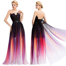 Strapless Chiffon Ball Gown Evening Prom Party Bridesmaid Formal Long MAXI Dress