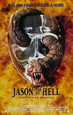 JASON GOES TO HELL THE FINAL FRIDAY Movie Poster Horror Friday the 13th