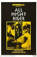 ALL NIGHT RIDER Movie Poster XXX X Rated Debbie Does Dallas Deep Throat RARE