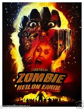 ZOMBIE 3 Movie Poster Horror Cult Hell on Earth Lucio Fulci