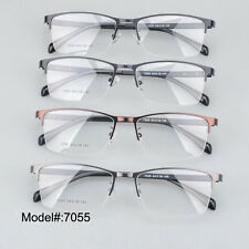 7055 half rim metal optical glasses frame delicate eyewear spectacles eyeglasses
