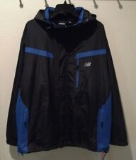 NEW BALANCE Midweight Tech Black Blue Jacket Coat Water Wind Resist NWT Mens 2XL