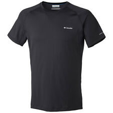 Columbia Quickest Wick Mens T-shirt Sports Top - Black All Sizes