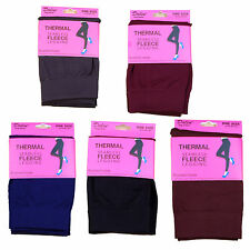 Womens Thermal Leggings Seamless Fleece Brushed Winter Inside 1 Size Fits M L XL