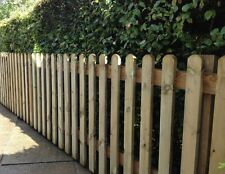 ROUND TOP PICKET 0.9M HIGH GARDEN TOTAL FENCING FENCE KIT - CHOOSE LENGTH