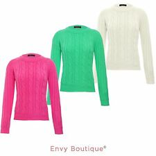 BRAVE SOUL LADIES WOMENS CREW NECK CABLE KNIT JUMPER SWEATER KNITTED PULLOVER