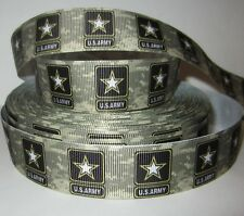 """GROSGRAIN US ARMY CAMO 1"""" INCH RIBBON 1, 3 OR 5 YARDS *SHIPS FREE* USA SELLER*"""