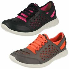 Ladies Clarks Seremene Lace Leather Casual Lace Up Trainer Shoes D Fitting