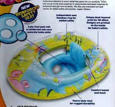 SWIM SCHOOL~DELUXE BABY BOAT~AQUA~3D~REFORZED SAFETY SEAT~TODDLE~POOL FLOAT TUBE