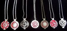Diffuser Necklace Essential Oil Locket Necklace Aromatherapy Felt Pads