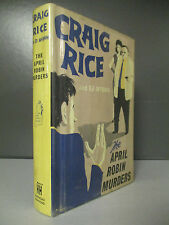 Craig Rice & Ed McBain - The April Robin Murders - 1st Edition - 1959 (ID:510)