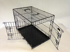 Rugged Two Door Dog cage Puppy Crate by Doghealth all sizes