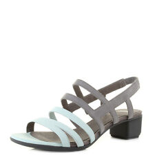 Womens Ladies Camper Beth Blue Grey Leather Strappy Low Heel Sandals Size