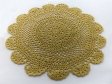 "Set of 2 Handmade Medallion Crochet Lace Cotton Doilies, 12"", Chartreuse Green"