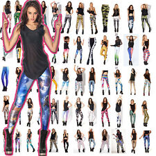 Sexy Women 3D Graphic Prints Legging Waist Fitness Skinny Pantyhose tights Pants