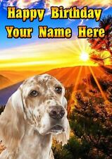 English Setter Occasions Personalised Greeting Card Birthday Fathers Mum PIDOA81
