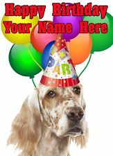 English Setter Occasions Personalised Greeting Card Birthday Fathers Mum PIDOA82