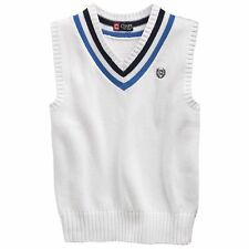 Chaps boys vest cable knit cotton sweater sizes 5 6 NEW