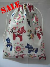 Cotton Linen Drawstring Small Bag Storage Travel Packaging Pouch Purse-Horse2