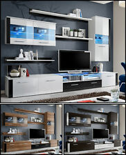 Modern Wall Unit TV Display Living Room High Gloss Furniture LOGO FRESH Free P&P