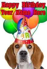 Beagle Party PID738  All Occasions Personalised Greeting Card Birthday GIFTS