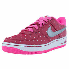 NIKE GIRLS AIR FORCE 1 GS BASKETBALL SHOES DARK RED SILVER PINK POW 314219 603