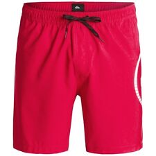 Quiksilver Sideways 17in Mens Shorts Swim - Quik Red All Sizes