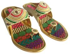US WOMEN INDIAN SHOES ETHNIC SHOES WEDDING SHOES PARTY SHOES KHUSSA JUTTI  DD514