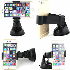 360° Universal Strong Suction In Car Phone Dashborad Windscreen Holder Mount Blk