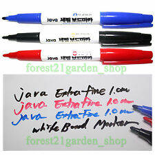 Java Dry Eraser White Board Marker with1.0mm extra-fine nip - 3 Colors - 6/12pcs