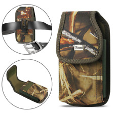 REIKO Camouflage Vertical Canvas Clip Case for Cell Phone with Otterbox Commuter