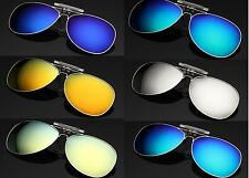 Fashion New Driving Polarized Mirrored UV400 Clip-on Flip-up Sunglasses 07
