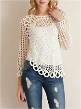S-M-L Through A Glass Slipper Hand Crochet Top - Ivory