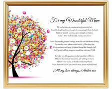 Personalised Mum gift - Gift for Mum - Mothers Day gift - Mothers Day poem gift