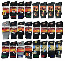 3/6/12 Pairs Mens Thermal Socks Winter Outdoor Work Boot Socks 6-11 Socksation