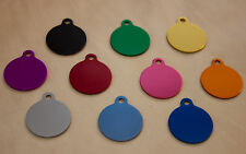 ENGRAVED SMALL DISC SHAPE PET TAG NAME DISC, FOR CAT / DOG