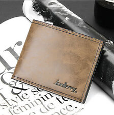 Fashion Designer Leather Short Bifold Purse Mens Wallet Luxury Brand Baellerry