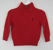 Polo Ralph Lauren boys sweater zip neck cotton sizes 2T 3T 4T NEW