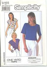 Simplicity 9165 Misses' Tops 12, 14, 16  Sewing Pattern