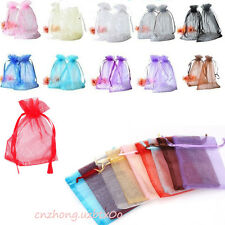 30/100Pcs Organza Jewelry Packing Pouch Wedding Favor Gift Bags 9x7cm/10x12cm