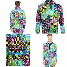 $300 ADIDAS & JEREMY SCOTT Psychedelic Floral Shellsuit Colorful Zip Jacket BNWT