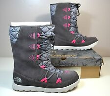 NIB THE NORTH FACE THERMOBALL APRES BOOTIE GREY WINTER SNOW BOOTS SHOES SZ 7 8
