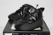Air Jordan Retro 12 XII Master Black Gold Sneakers Toddlers GP Size 1C 2C 3C New