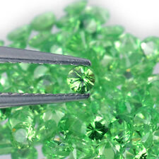 2.3mm Lot 1,2,6,20pcs Round Diamond Cut Natural Gemstone Green Garnet Tsavorite