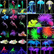 Silicone Aquarium Fish Tank Decor Artificial Coral GlowFish Underwater Ornament