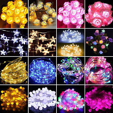 LED Battery Operated Wedding Garden Light Fairy Lighting String Club Lamp Decor