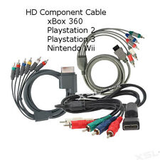 HD RGB Component Audio Video Cable Lead for Sony PS3, xBox 360, Nintendo Wii