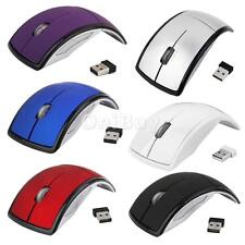 Laptop PC Computer 2.4GHz 1600dpi Wireless Foldable Arch Optical Mouse USB Mice