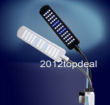 28/48 LED Aquarium Light Flexible Arm Clip on Plant Grow Fish Tank Lighting Lamp